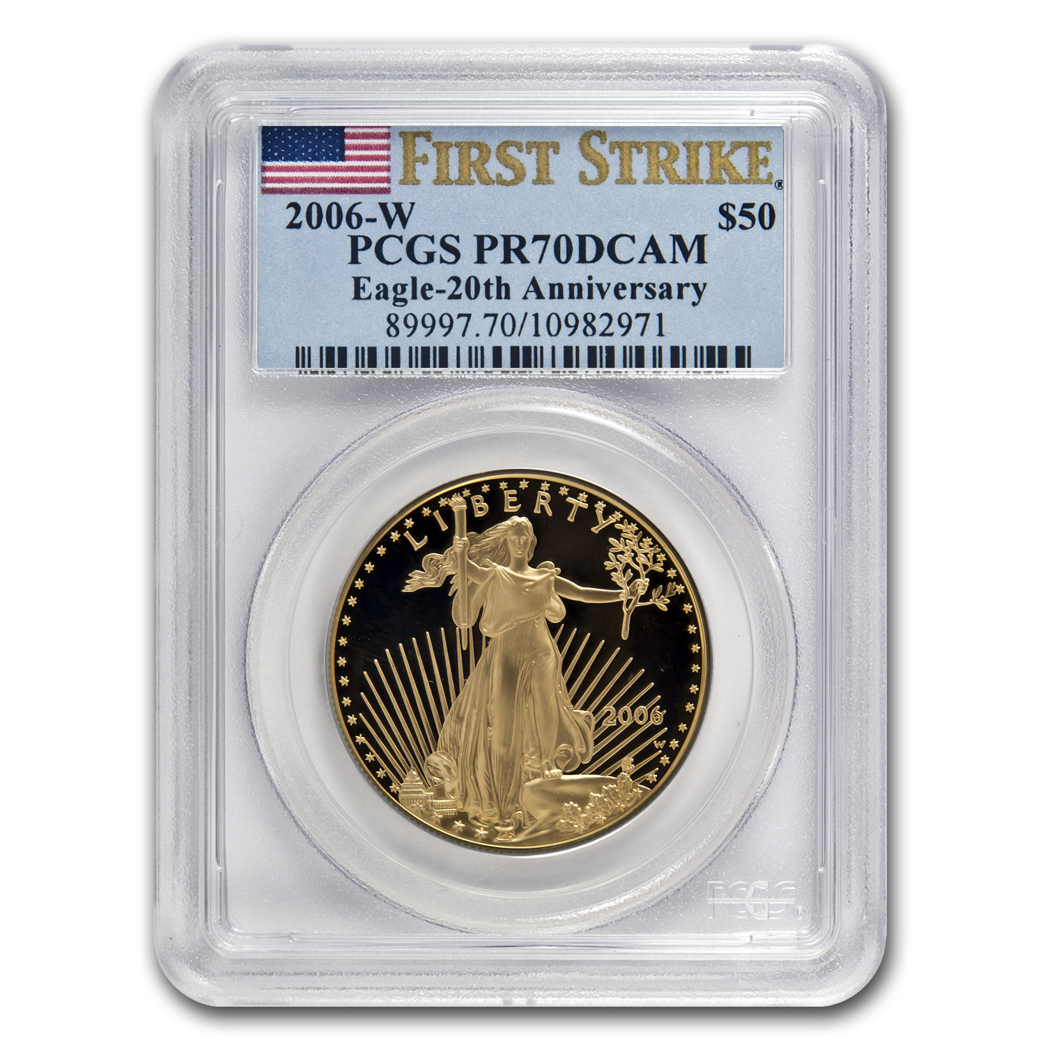 2006-W 1 oz Gold American Eagle PR-70 PCGS (FS) Registry Set