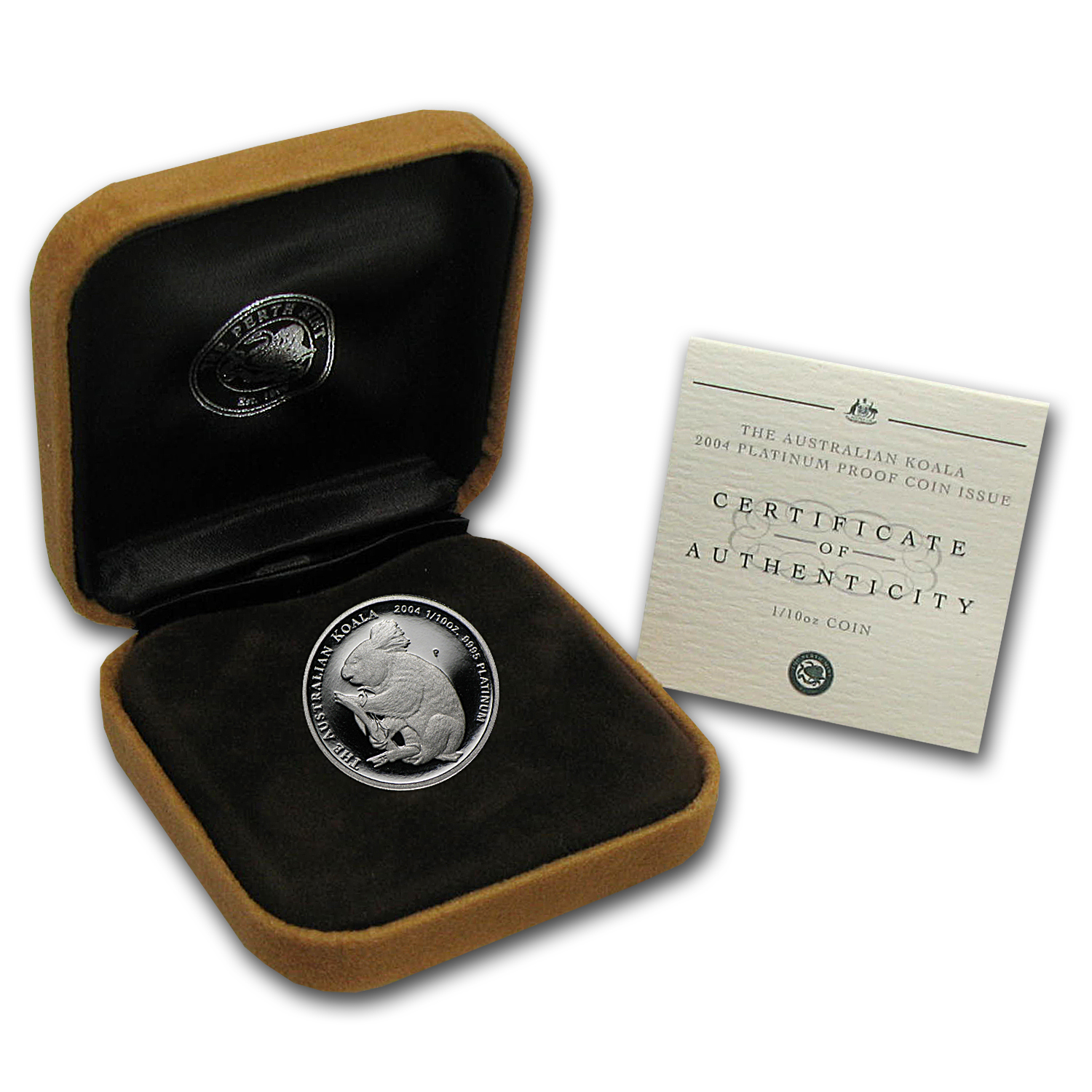 2004 1/10 oz Proof Australian Platinum Koala (w/Box & COA)