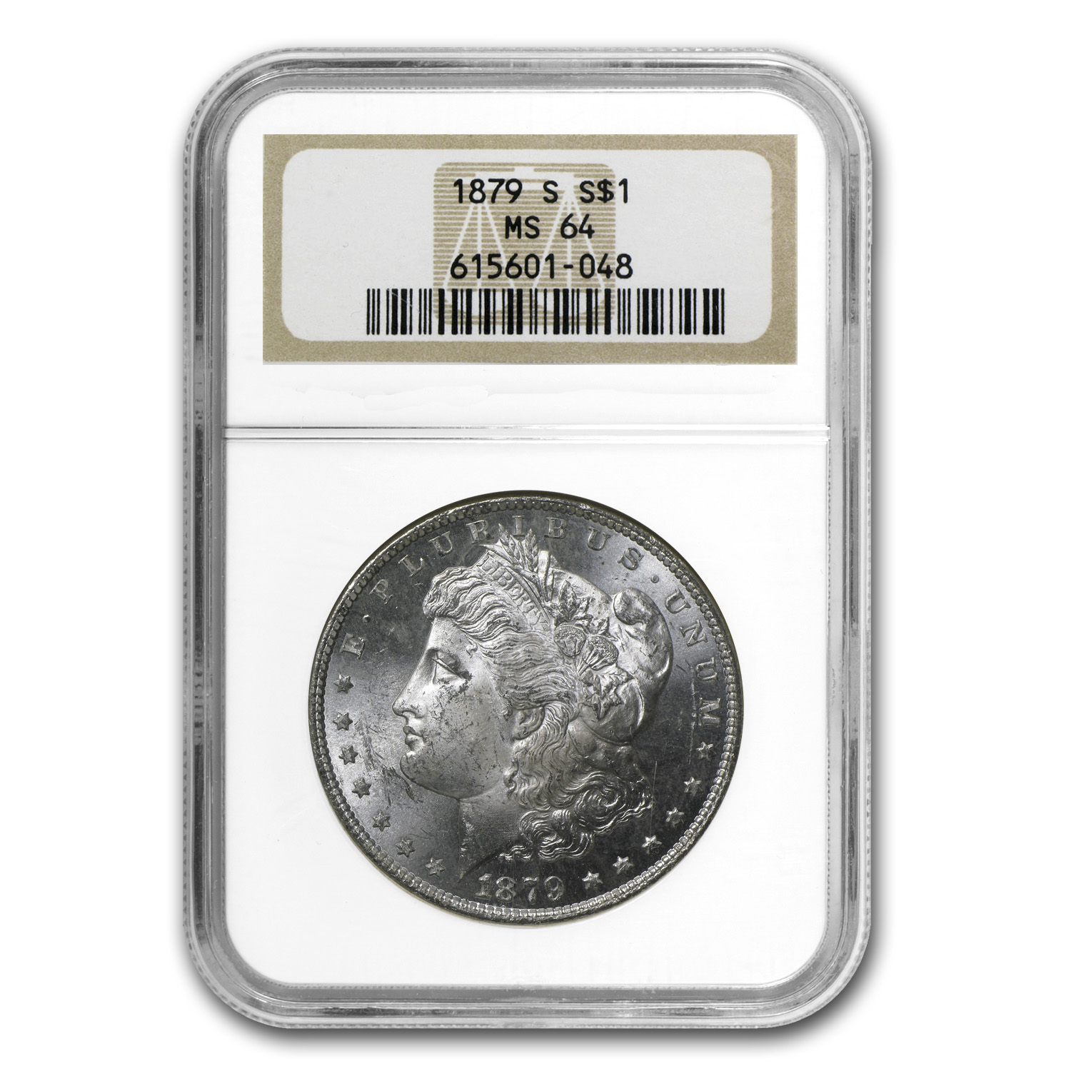 1879-S Morgan Dollar MS-64 NGC