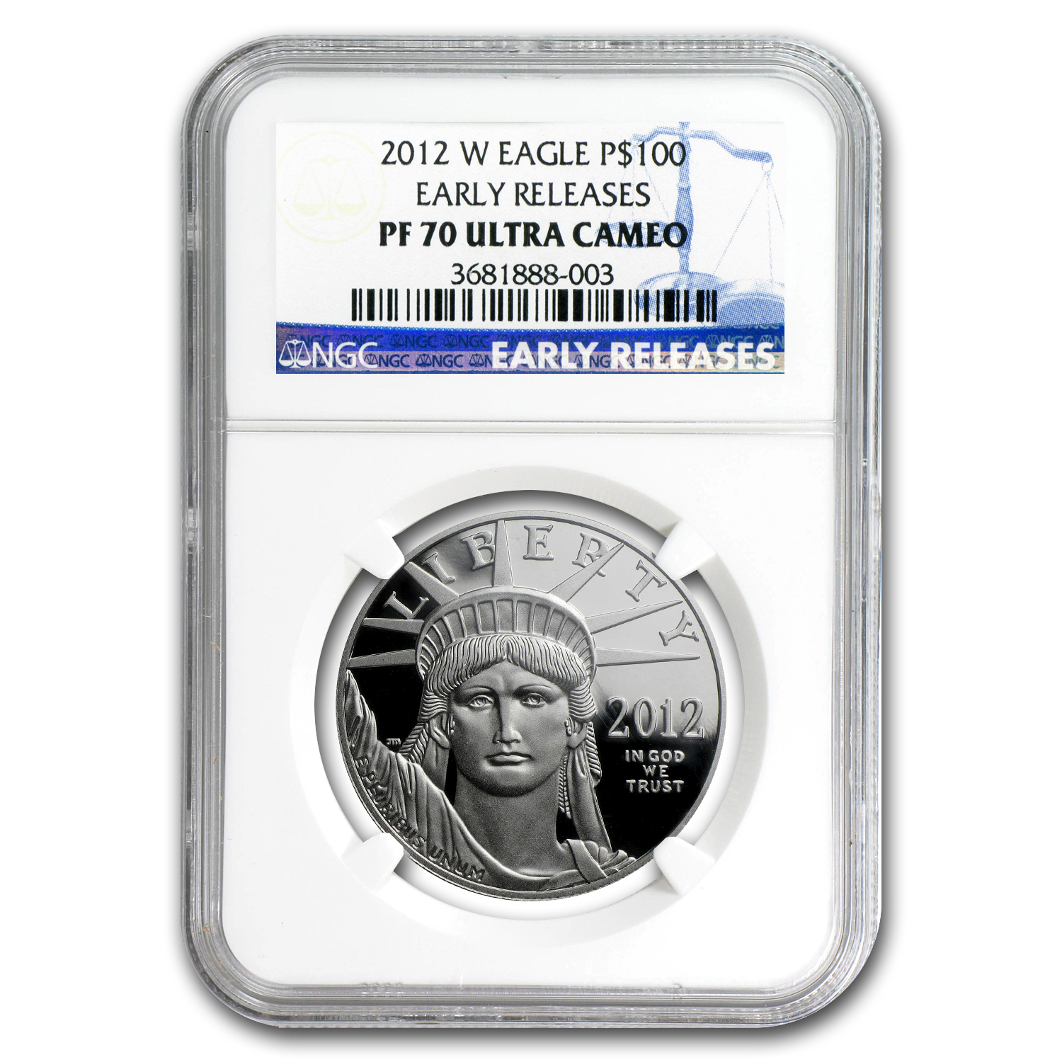 2012-W 1 oz Proof Platinum American Eagle NGC PF-70 Early Release