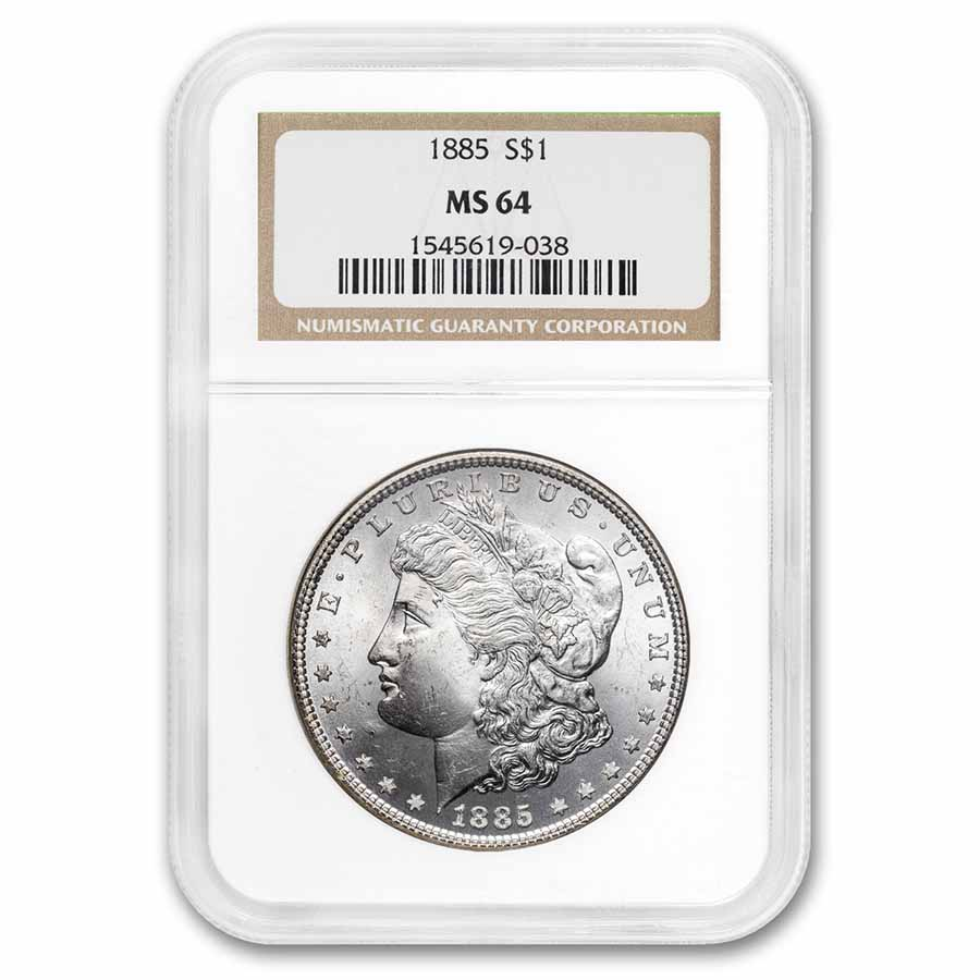1885 Morgan Dollar MS-64 NGC