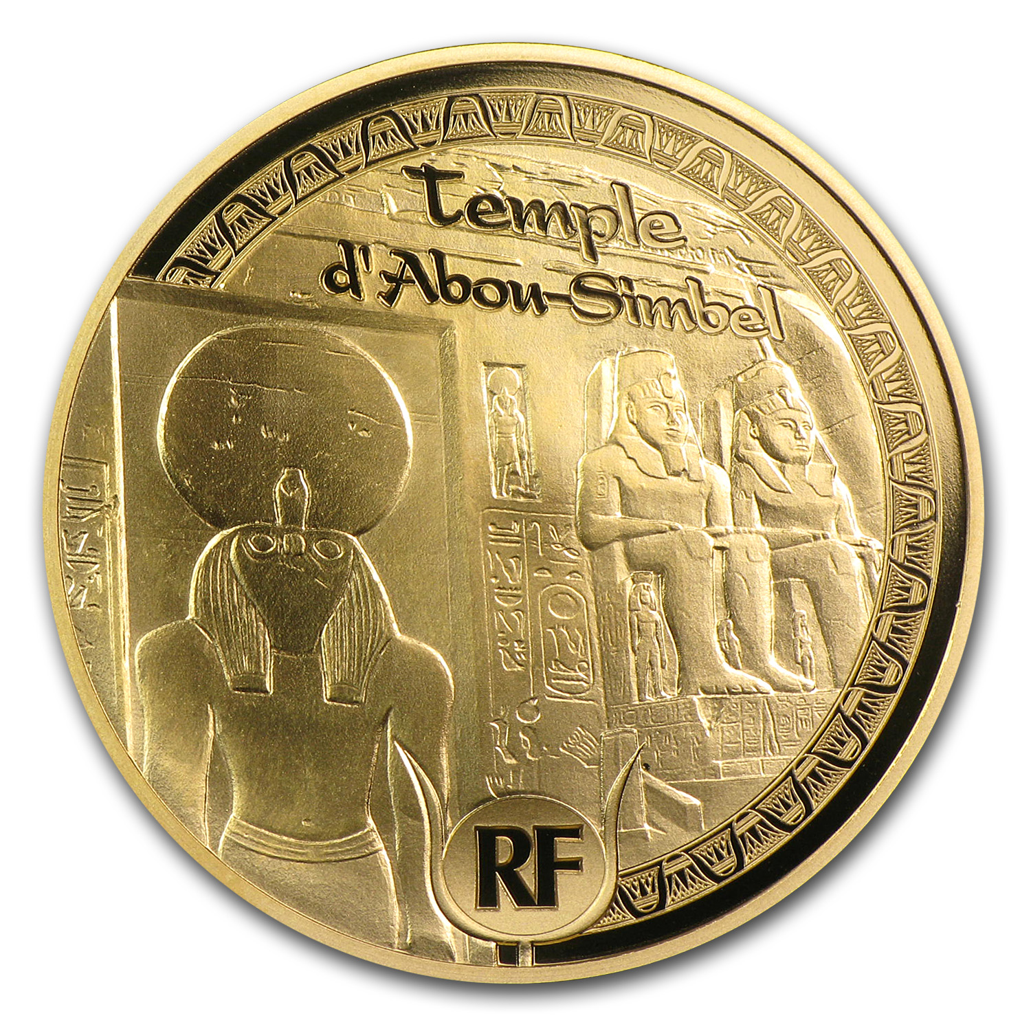 2012 1/4 oz Proof Gold UNESCO €50 (Egyptian Heritage Abu Simbel)