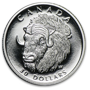 1999 1/10 oz Canadian Platinum Muskoxen (Proof, CoA)
