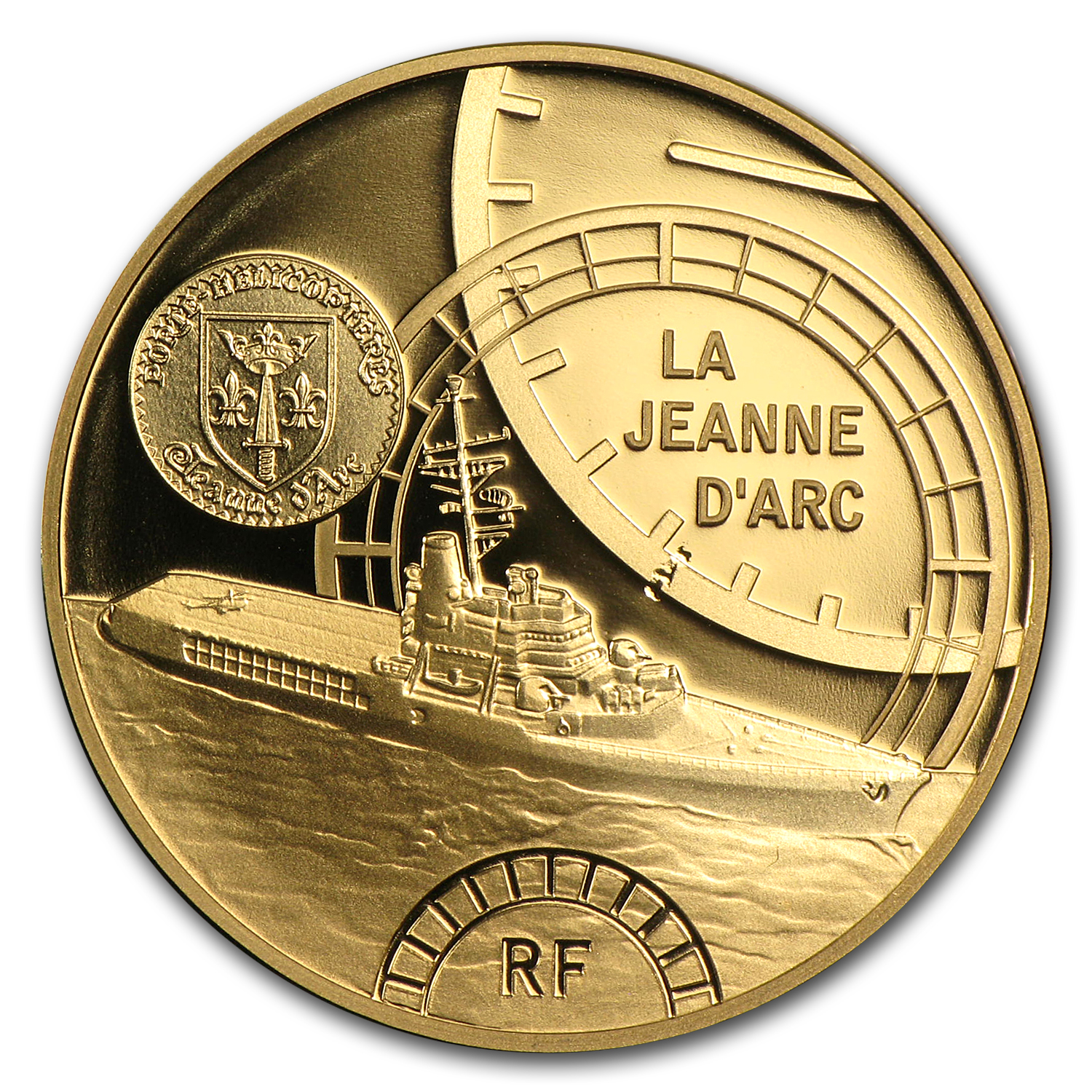 2012 1/4 oz Proof Gold Great French Ships The Jeanne D´Arc