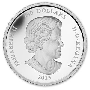 2013 1 Kilo Silver Canadian $250 Lunar - Year of the Snake