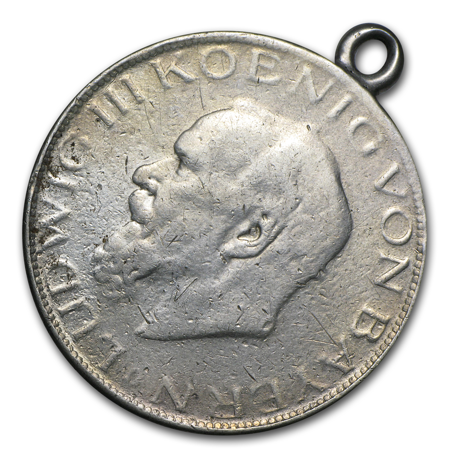 1914 Germany Silver 5 Marks Pendant (ASW .1065)