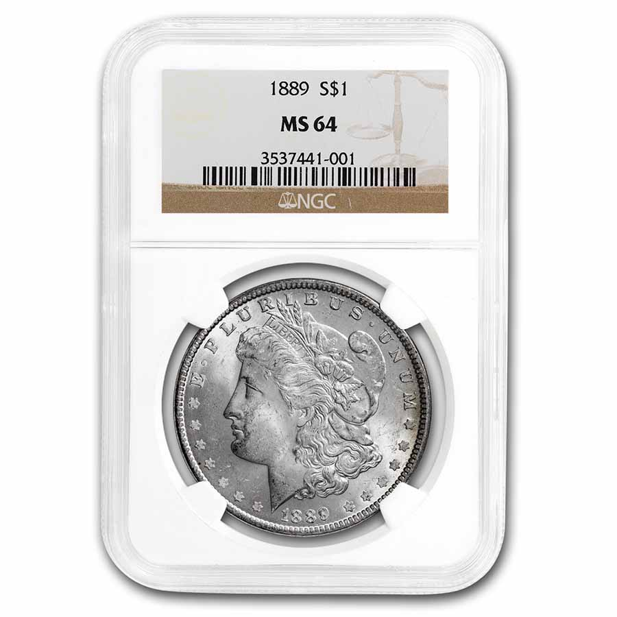 1889 Morgan Dollar MS-64 NGC