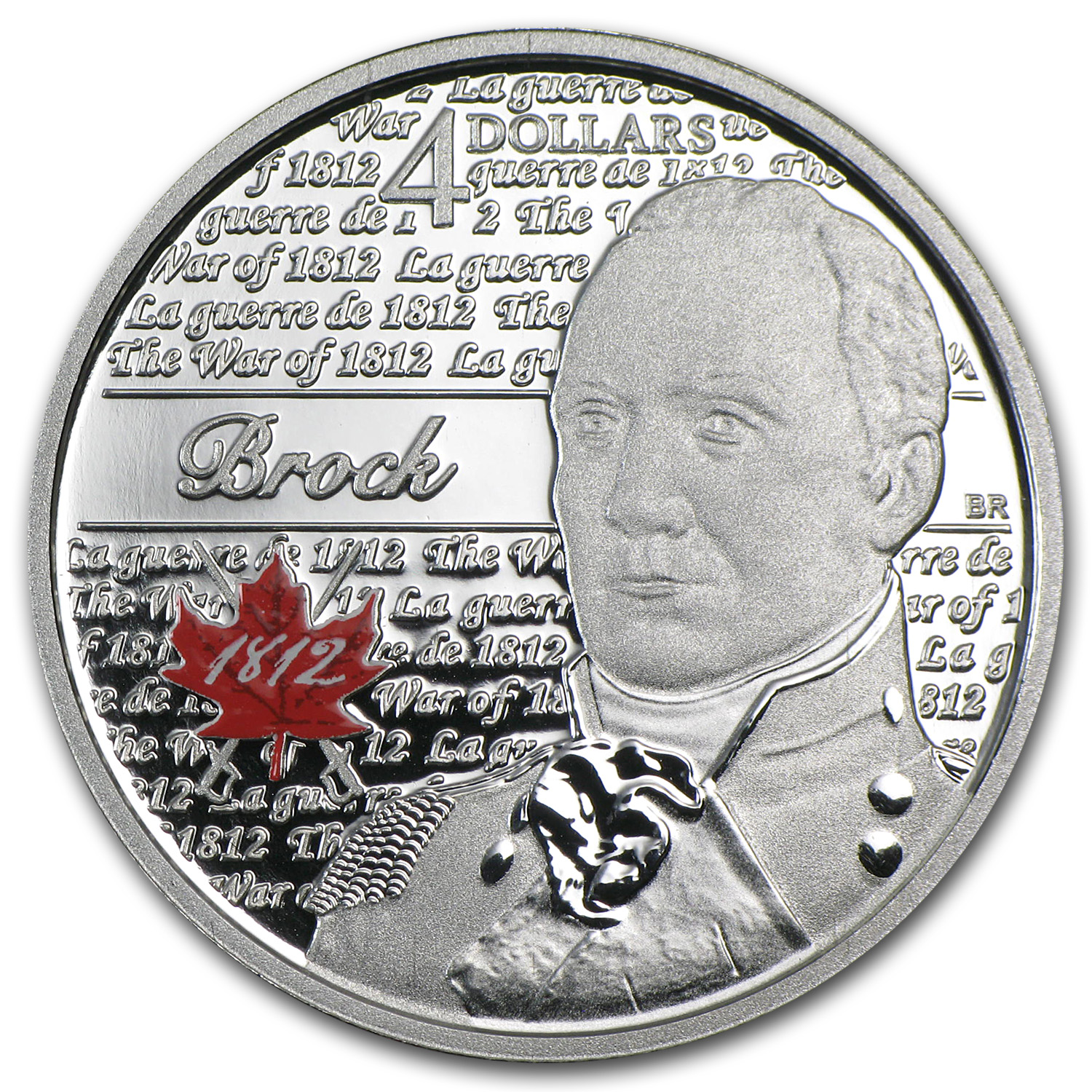 2012 1/4 oz Silver Canadian $4 Heroes of 1812 (Sir Isaac Brock)