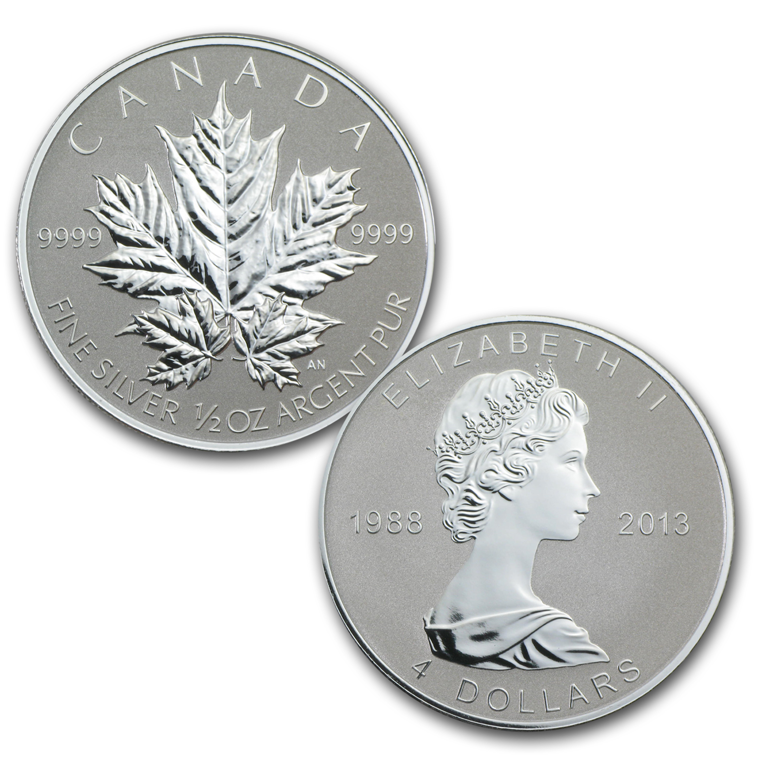 2013 Silver Canadian Maple Leaf 25th Anniversary 5-Coin Set