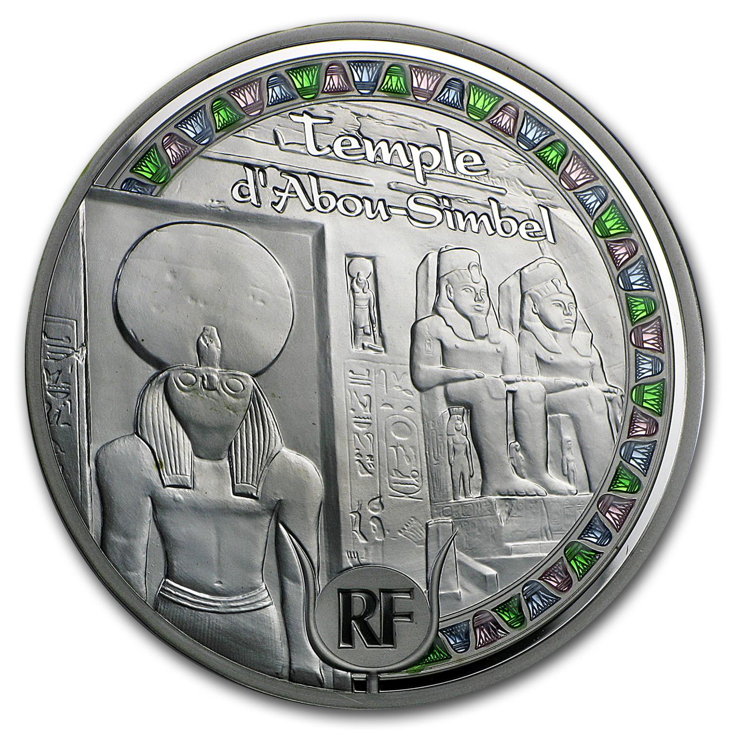 2012 5 oz Silver €50 Egyptian Heritage Proof (Abu Simbel)