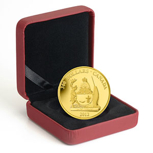 2012 1.125 oz Gold Canadian $300 Coin - Nunavut Coat of Arms