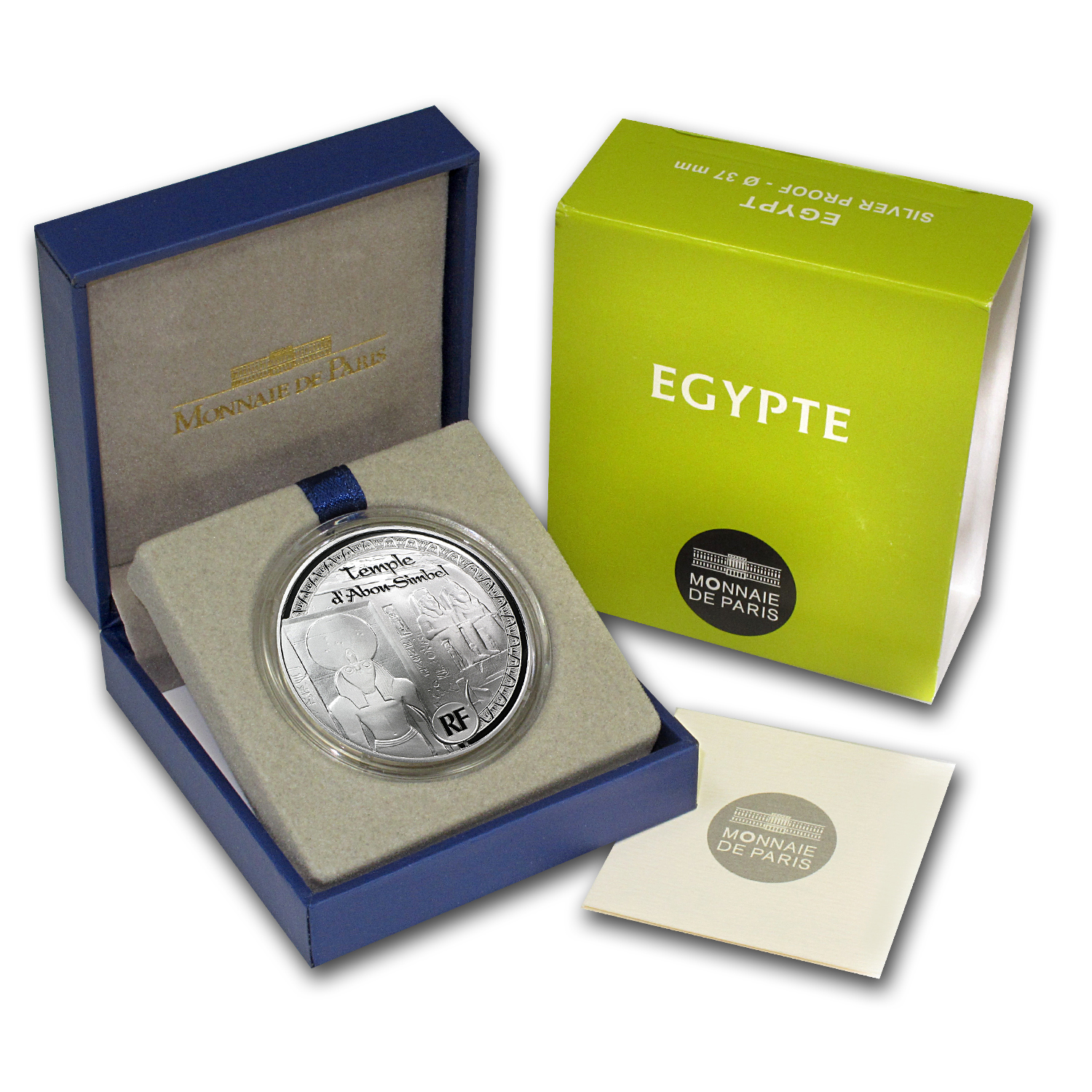 2012 France Silver €10 Egyptian Heritage Proof (Abu Simbel)