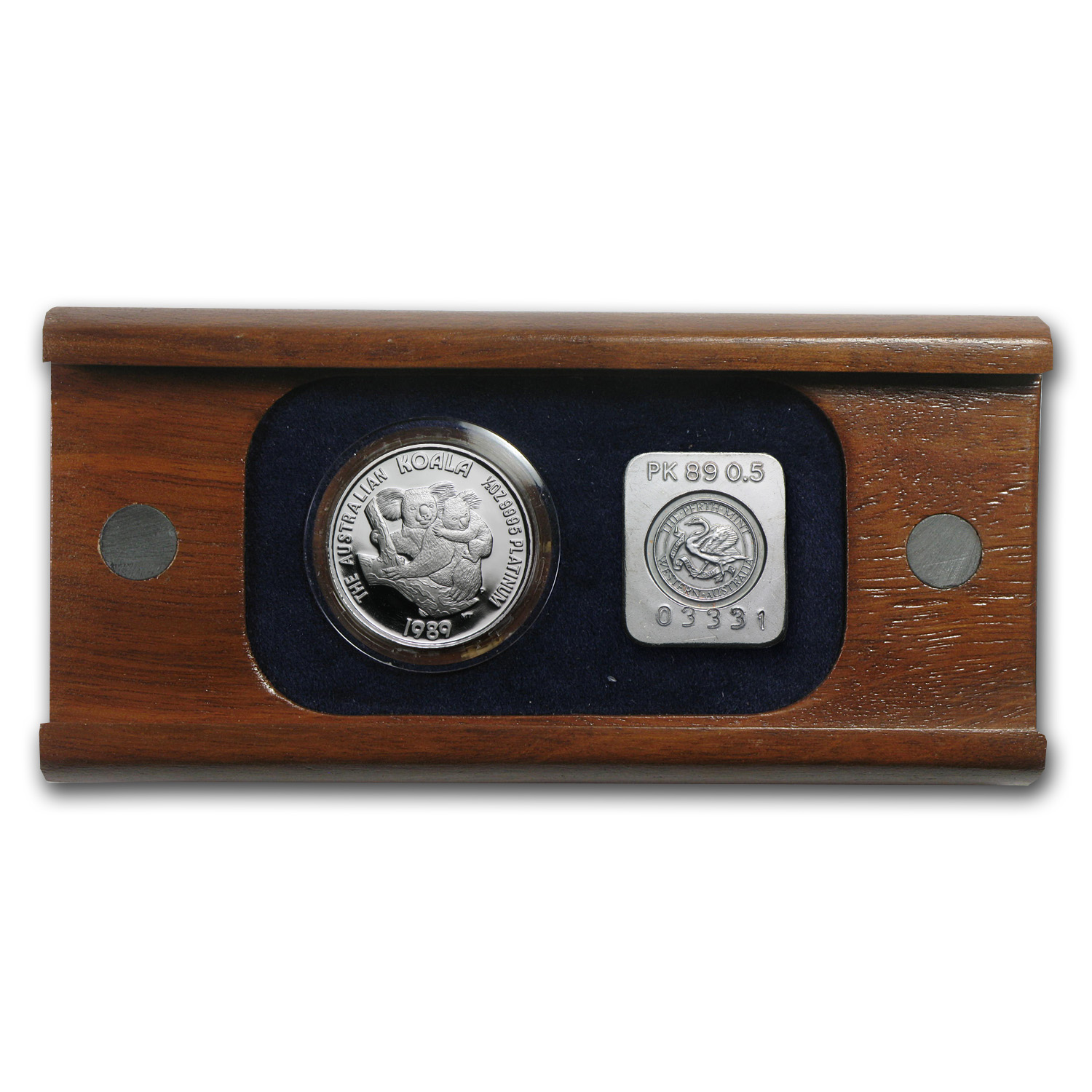 1989 Australia 1/2 oz Proof Platinum Koala (w/Box)