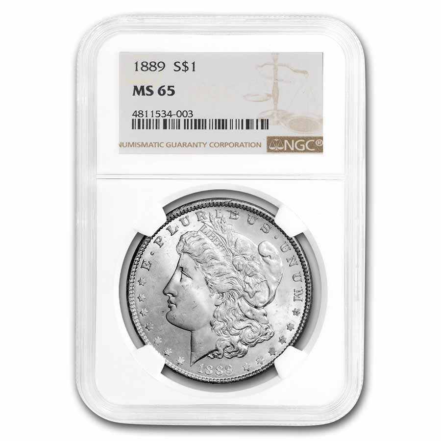 1889 Morgan Dollar MS-65 NGC