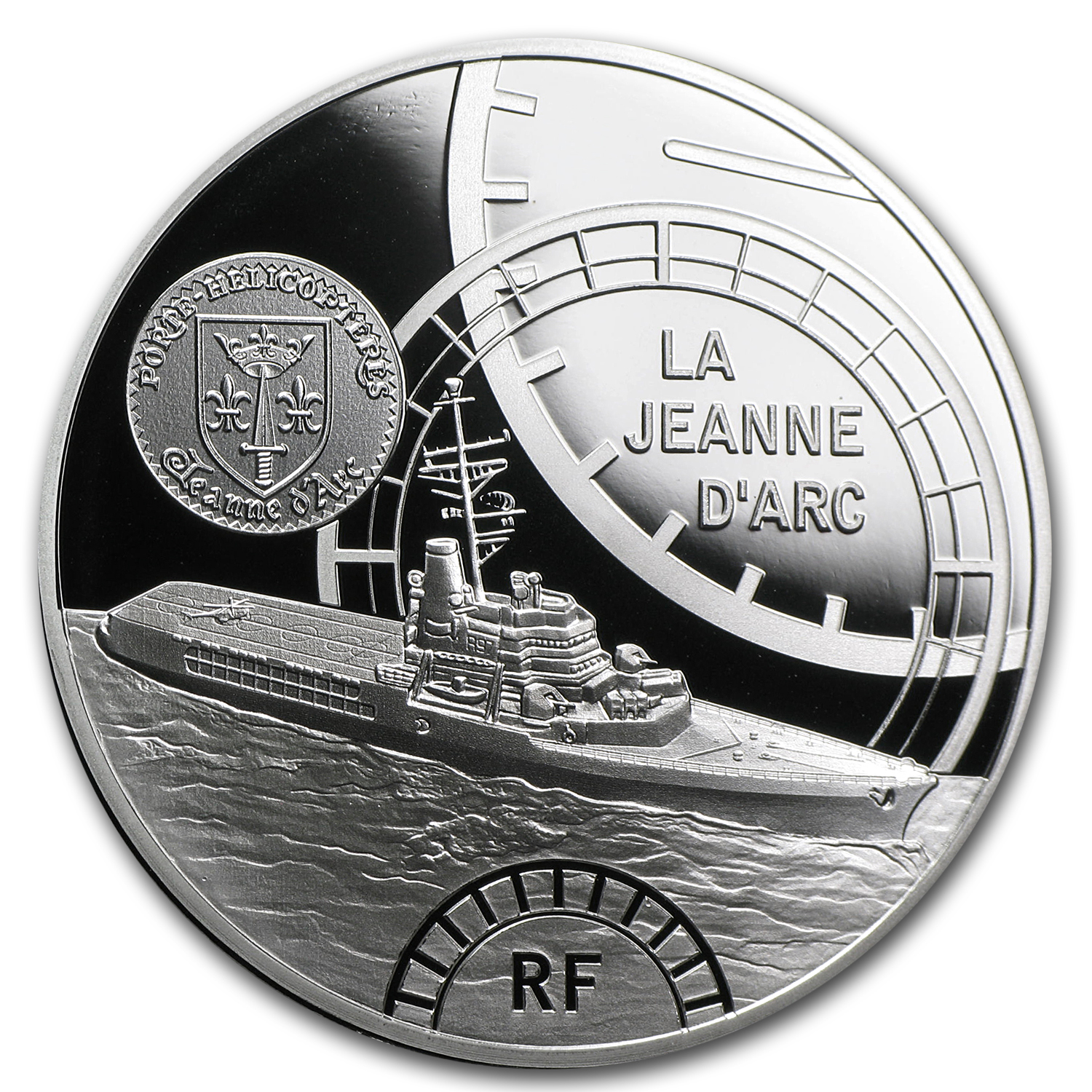 2012 Silver €10 Great French Ships Proof (The Jeanne D´Arc)