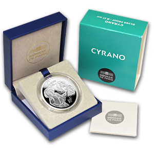 2012 10 Euro Silver Proof Heroes of French Literature - Cyrano