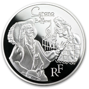 2012 €10 Silver Heroes of French Literature Proof (Cyrano)