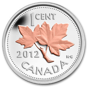 2012 1/2 oz Silver Canadian Coin- Gilded Farewell to Penny