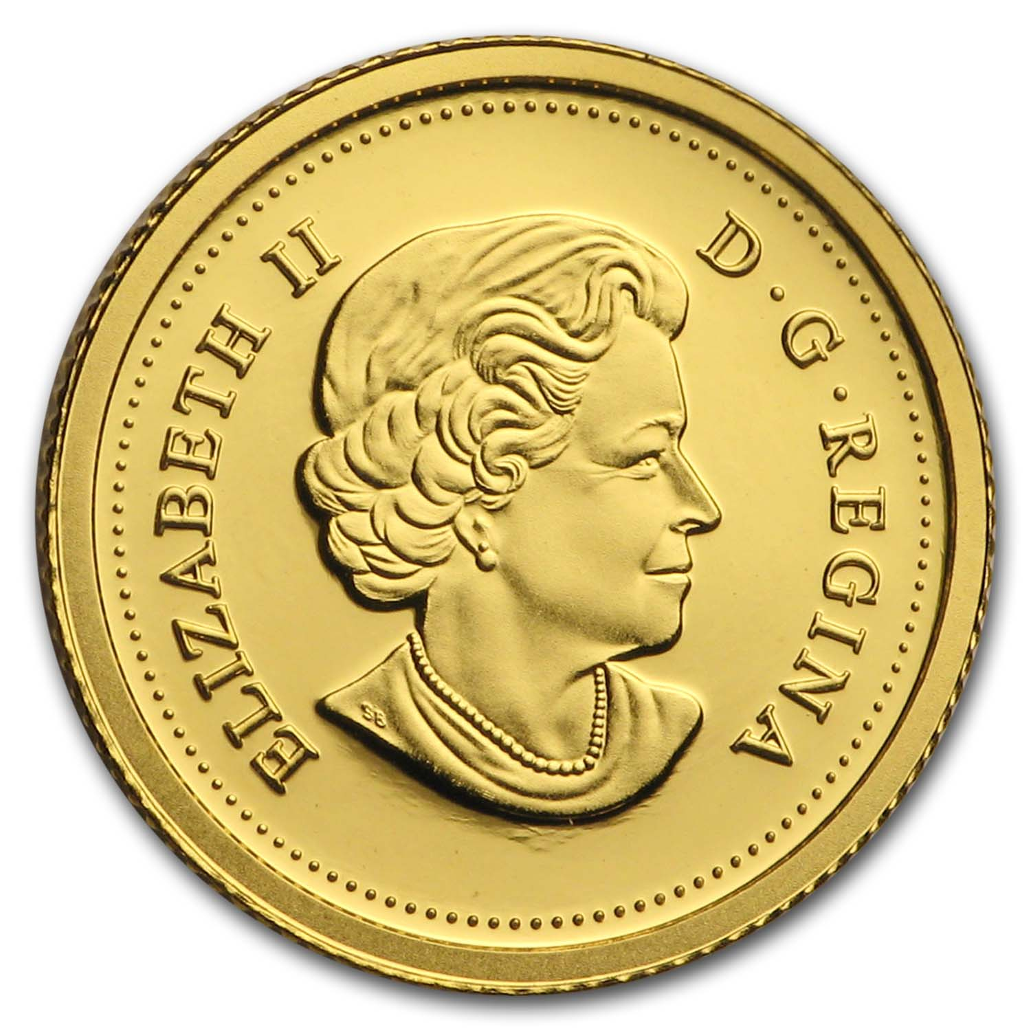 2012 1/25 oz Gold Canadian Coin - Farewell to the Penny