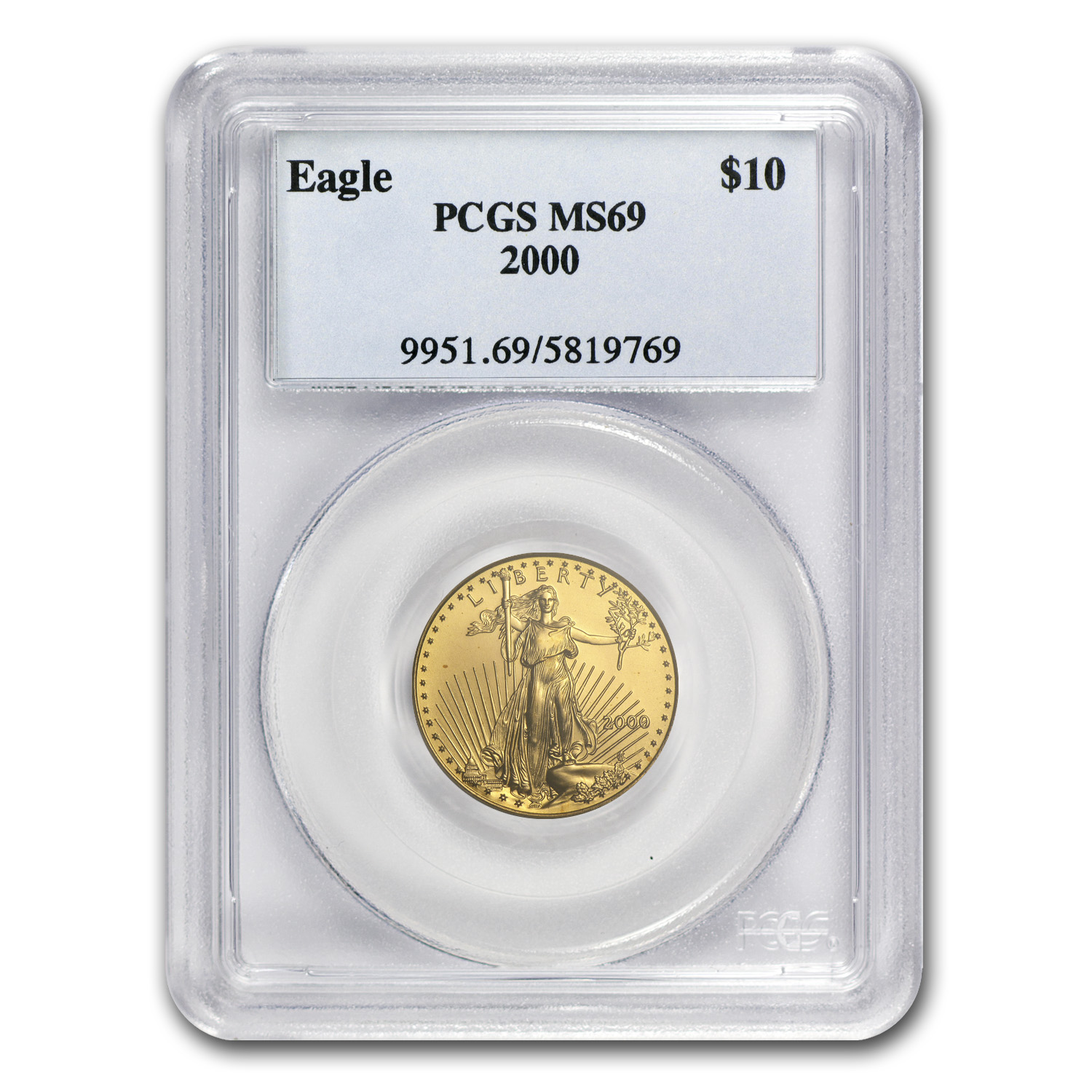 2000 1/4 oz Gold American Eagle MS-69 PCGS