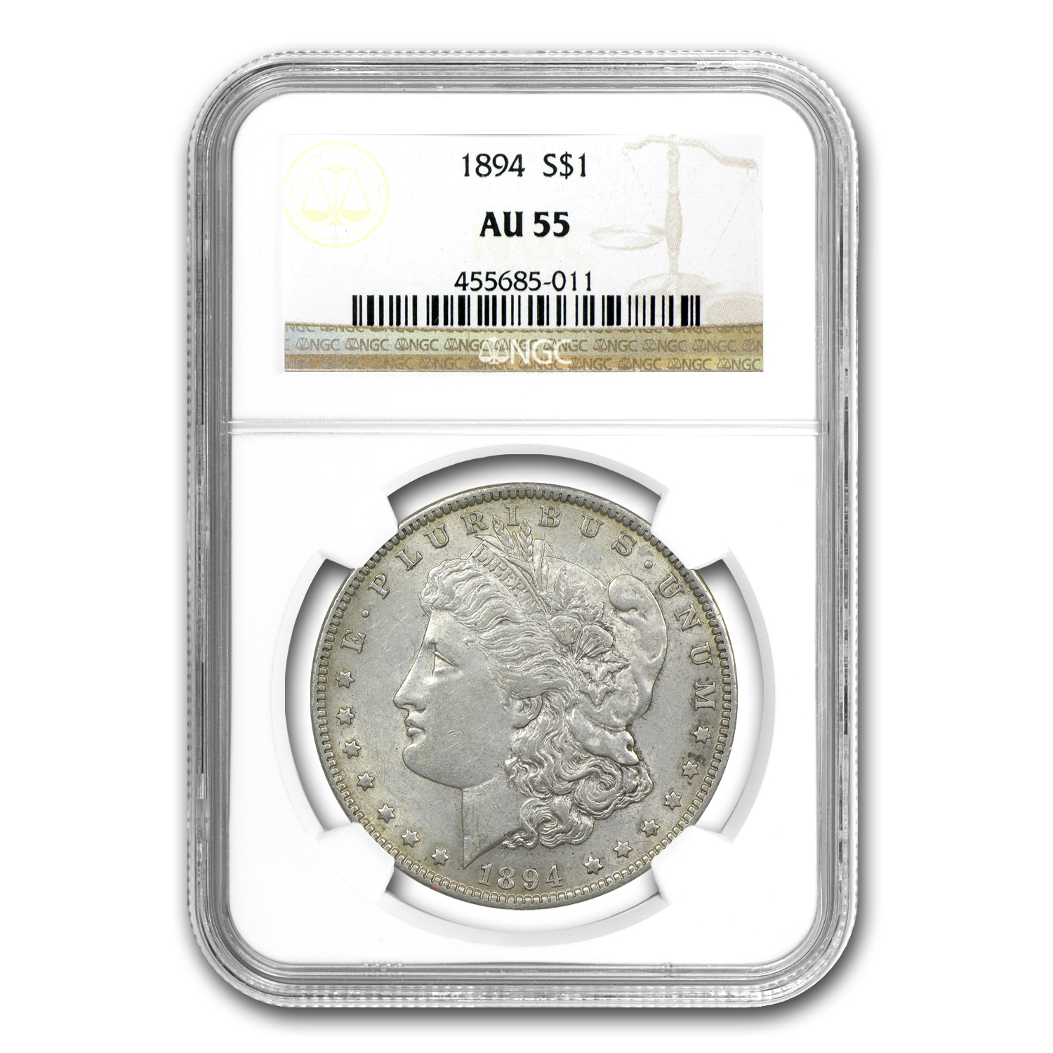 1894 Morgan Dollar Almost Uncirculated-55 NGC - Key Date
