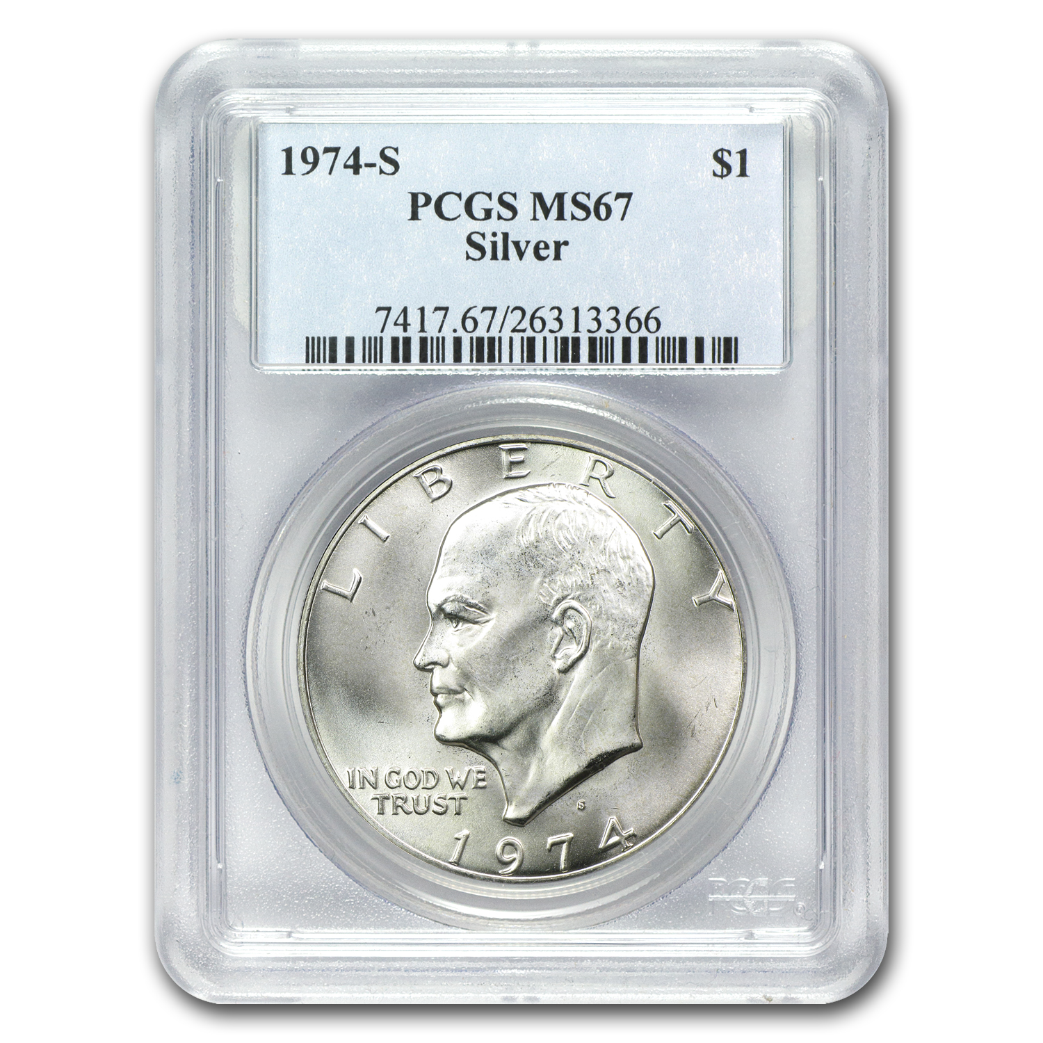 1971-1976 Eisenhower Silver Dollars - MS-67 PCGS