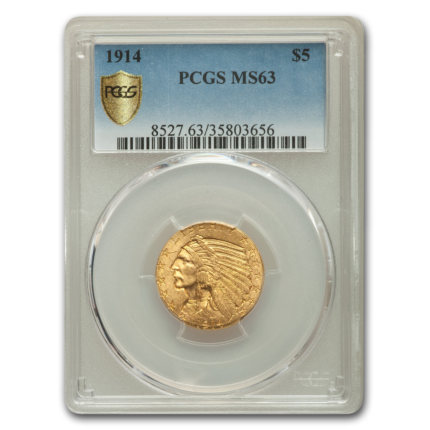 1914 $5 Indian Gold Half Eagle MS-63 PCGS