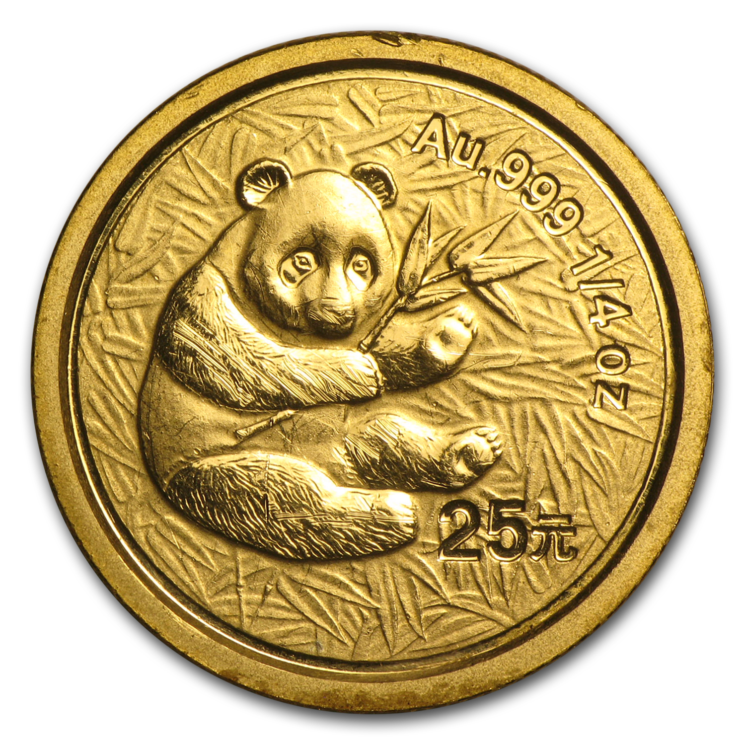 2000 1/4 oz Gold Chinese Pandas Frosted (Abrasions)