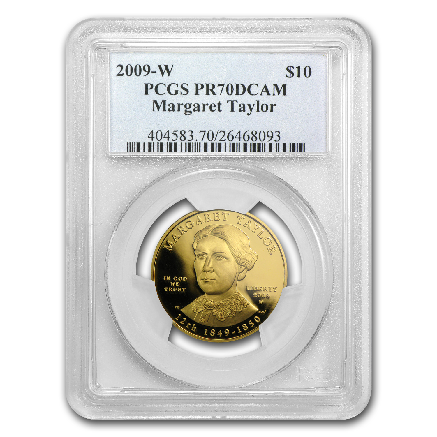 2009-W 1/2 oz Proof Gold Margaret Taylor PR-70 PCGS