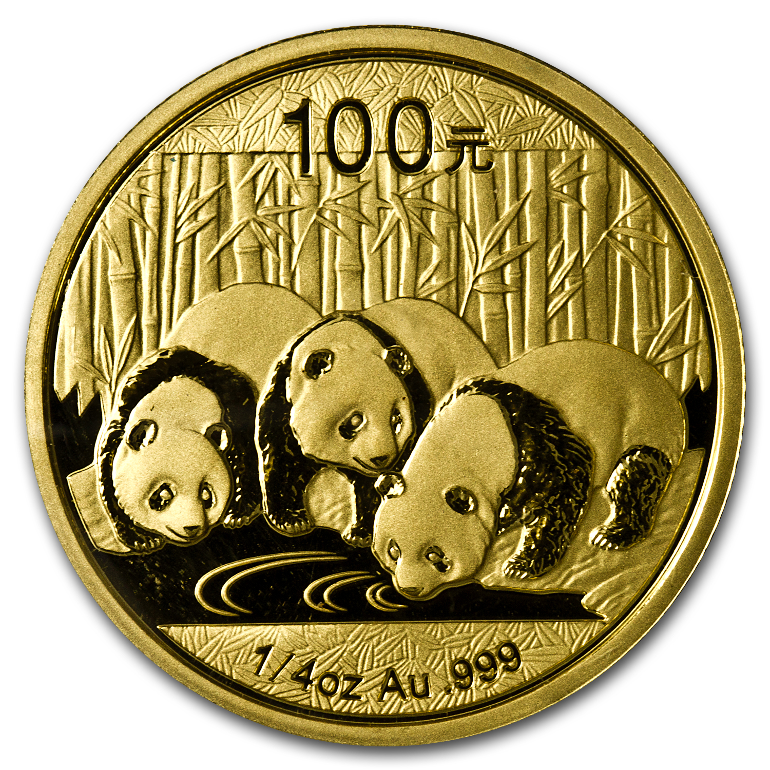 2013 China 1/4 oz Gold Panda BU (Sealed)