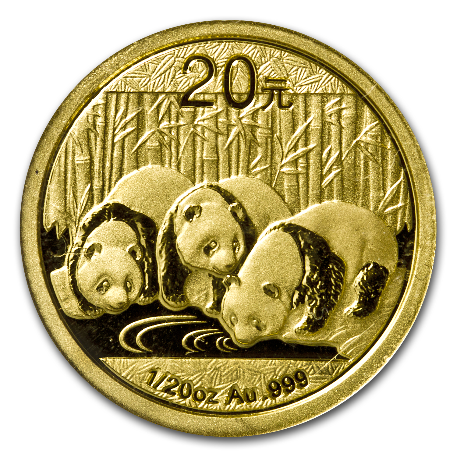 2013 China 1/20 oz Gold Panda BU (Sealed)