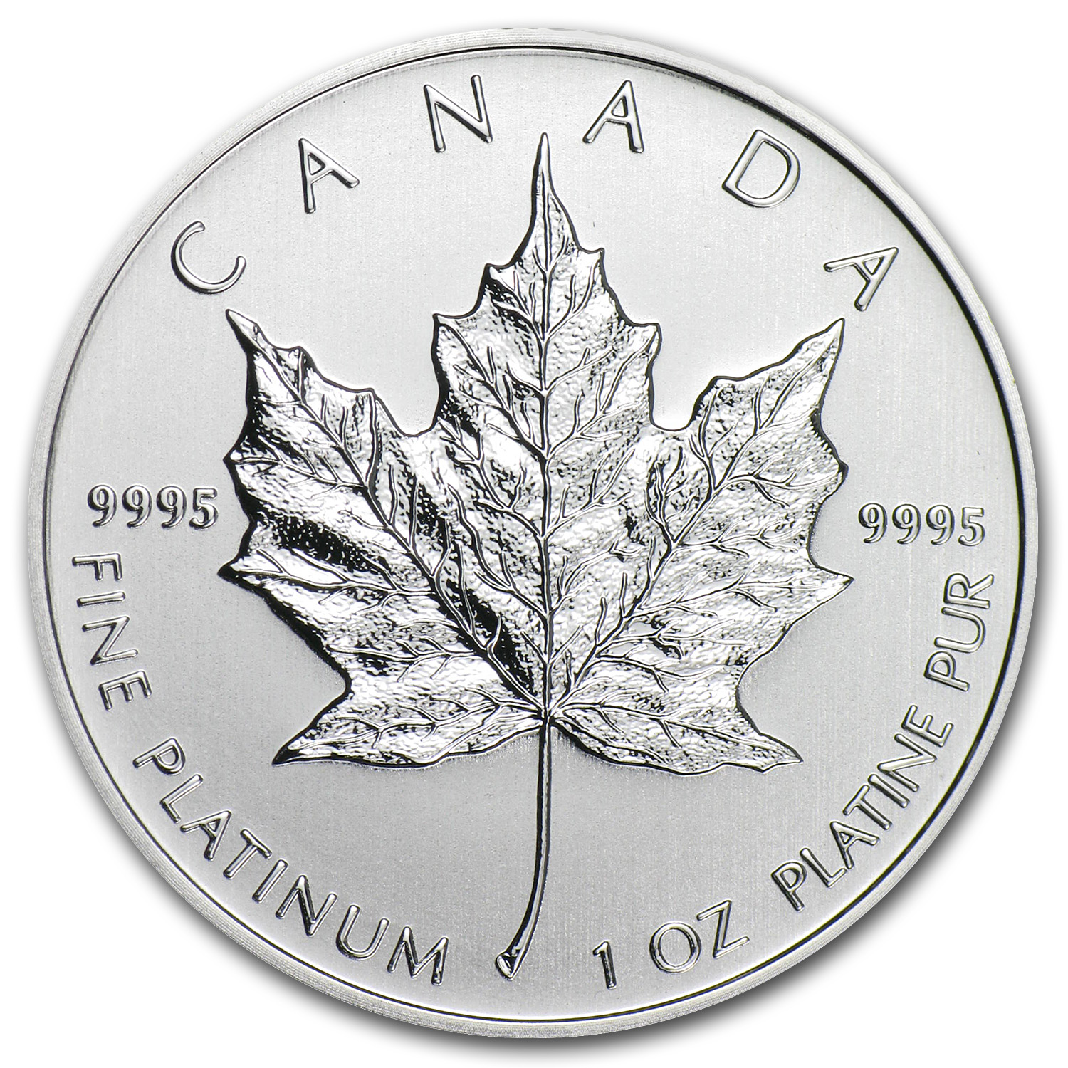 2013 1 oz Canadian Platinum Maple Leaf BU