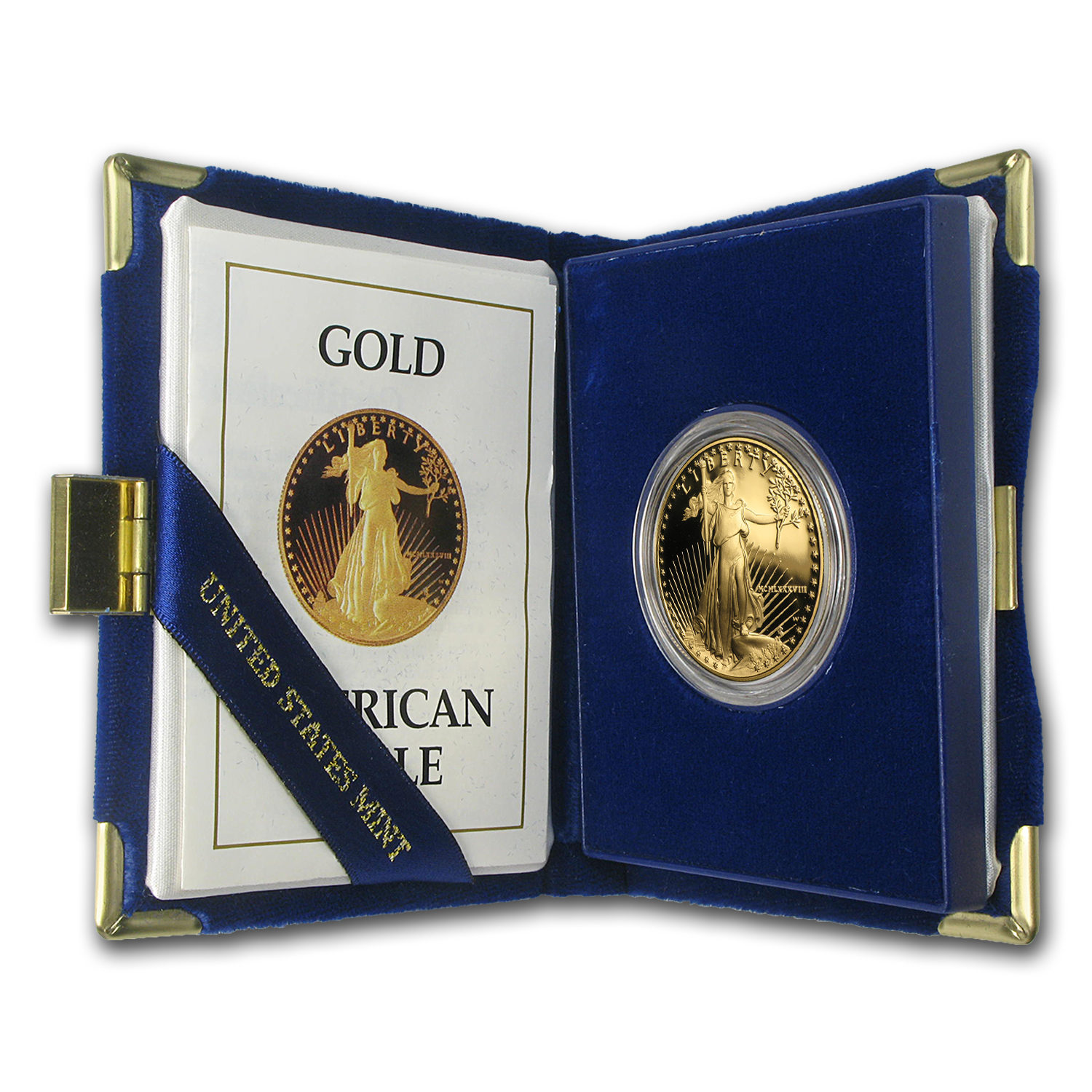 1988-W 1 oz Proof Gold American Eagle (w/Box & COA)