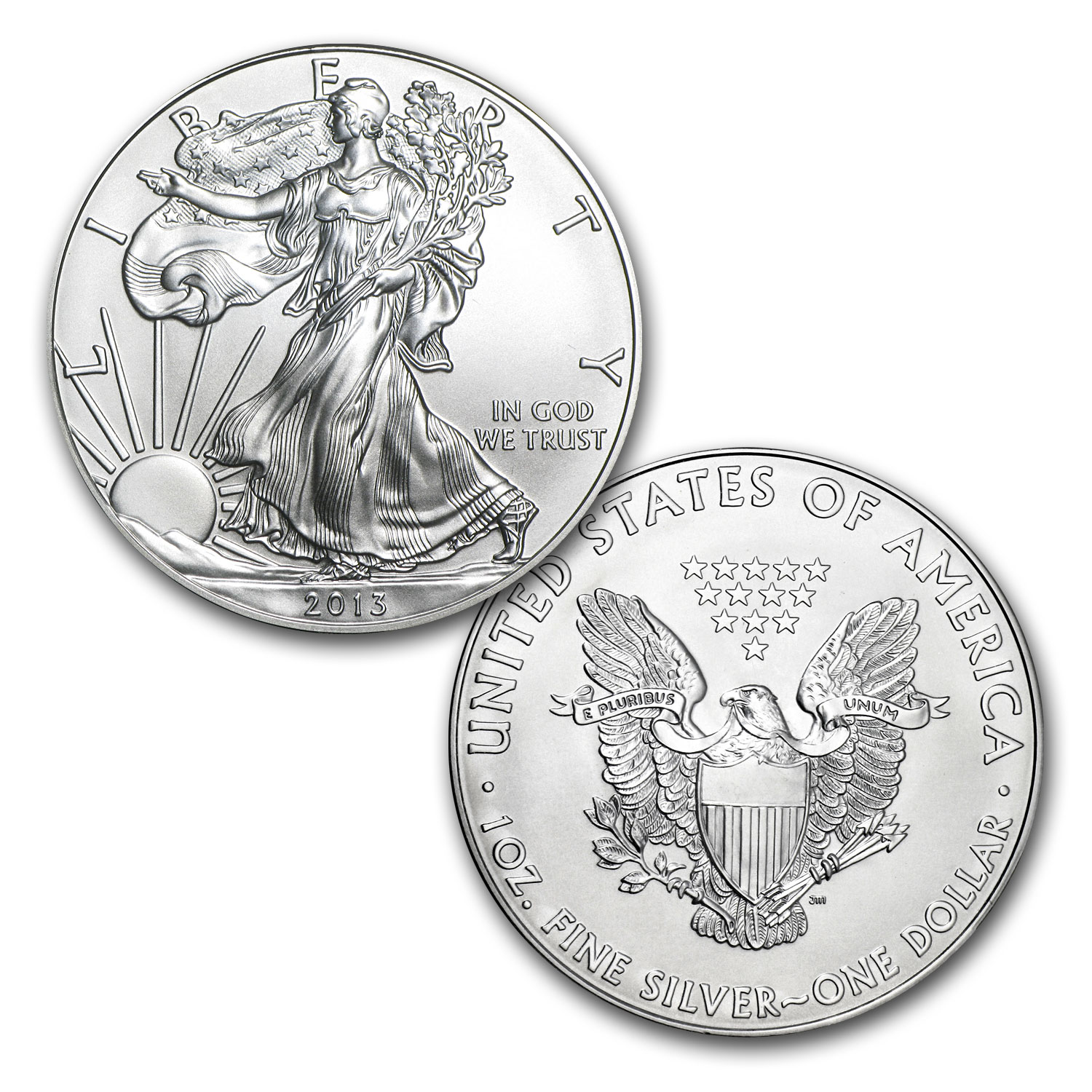 2013 1 oz Silver Eagles (20-Coin MintDirect® Tube, Premier)