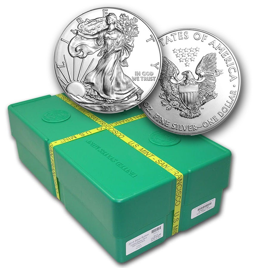 2013 500-Coin Silver Eagle Monster Box (SF Mint, Sealed)