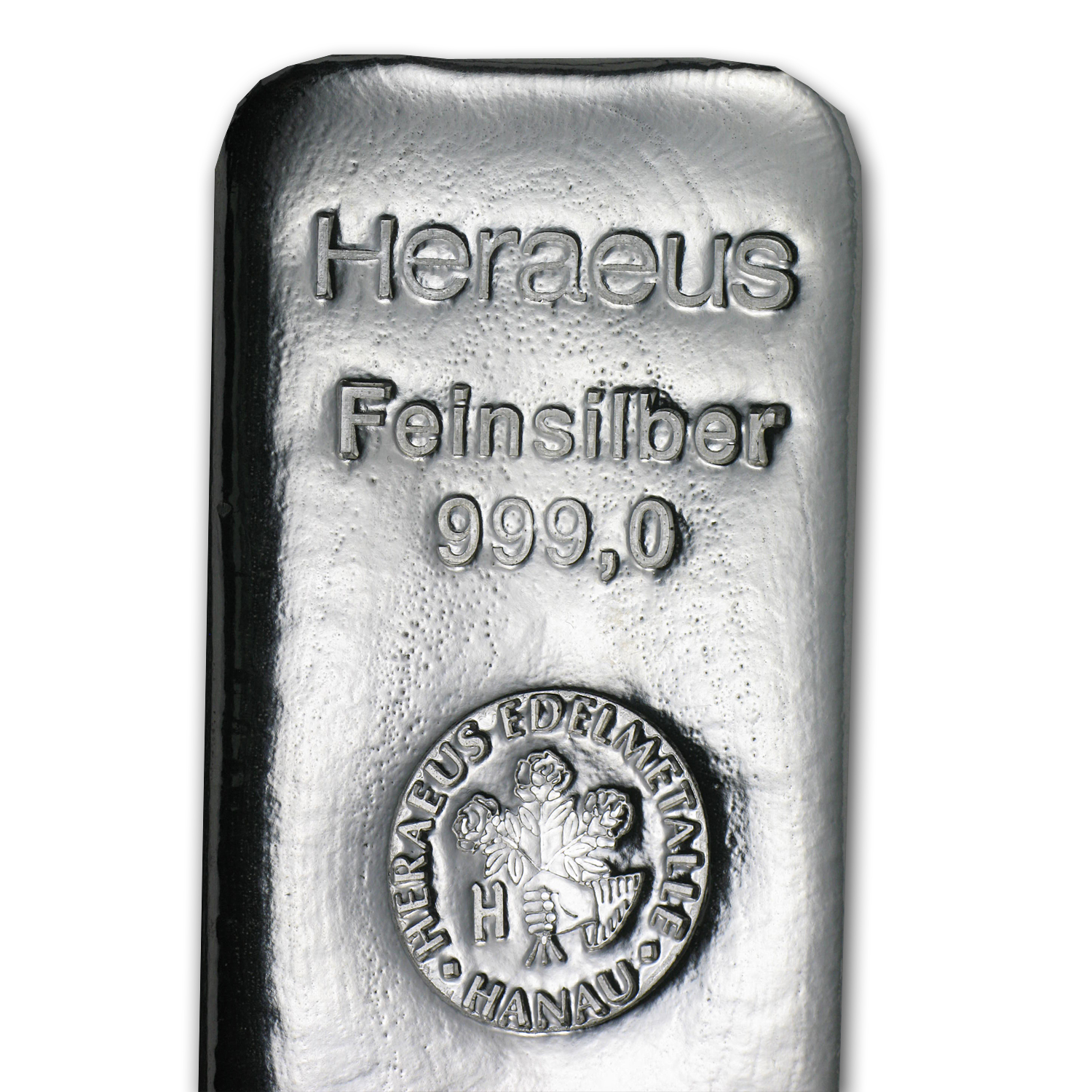 1 Kilo Silver Bars - Heraeus (Poured/1000 Gram)
