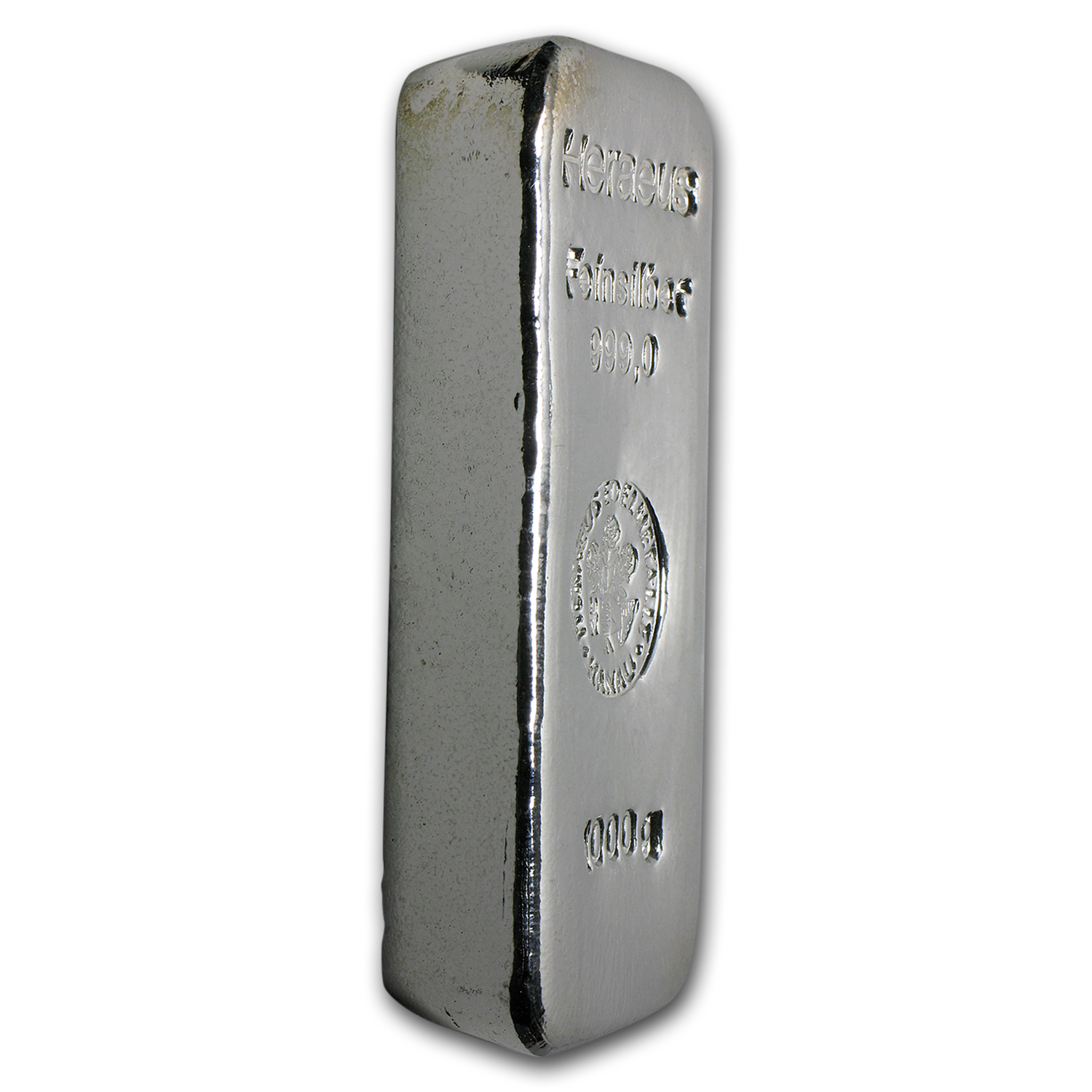 1 Kilo Silver Bar - Heraeus (Poured/1000 Gram)
