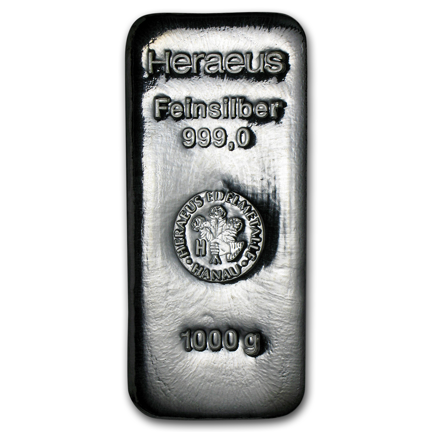 1 kilo Silver Bar - Heraeus (Poured)