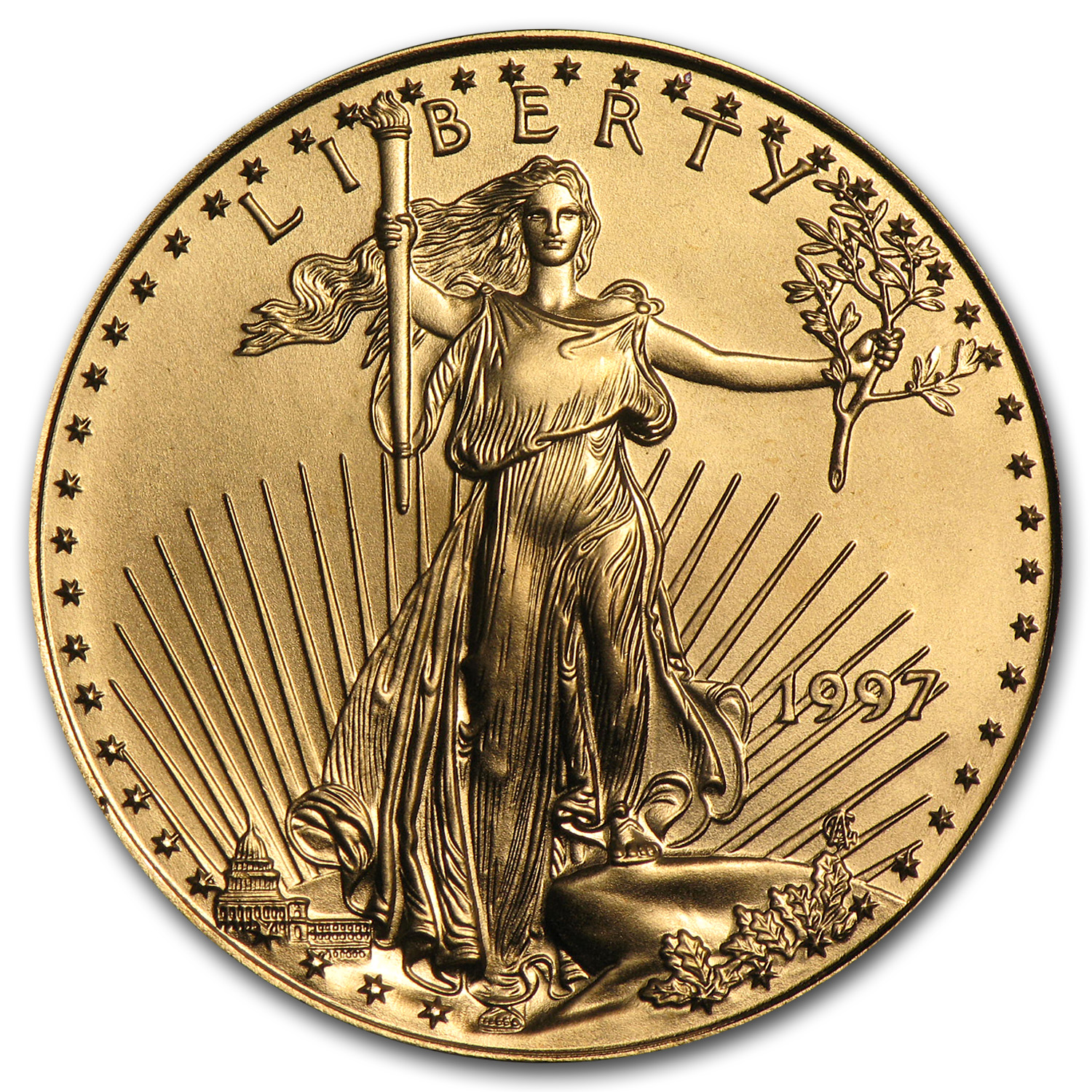 1997 1/2 oz Gold American Eagle BU