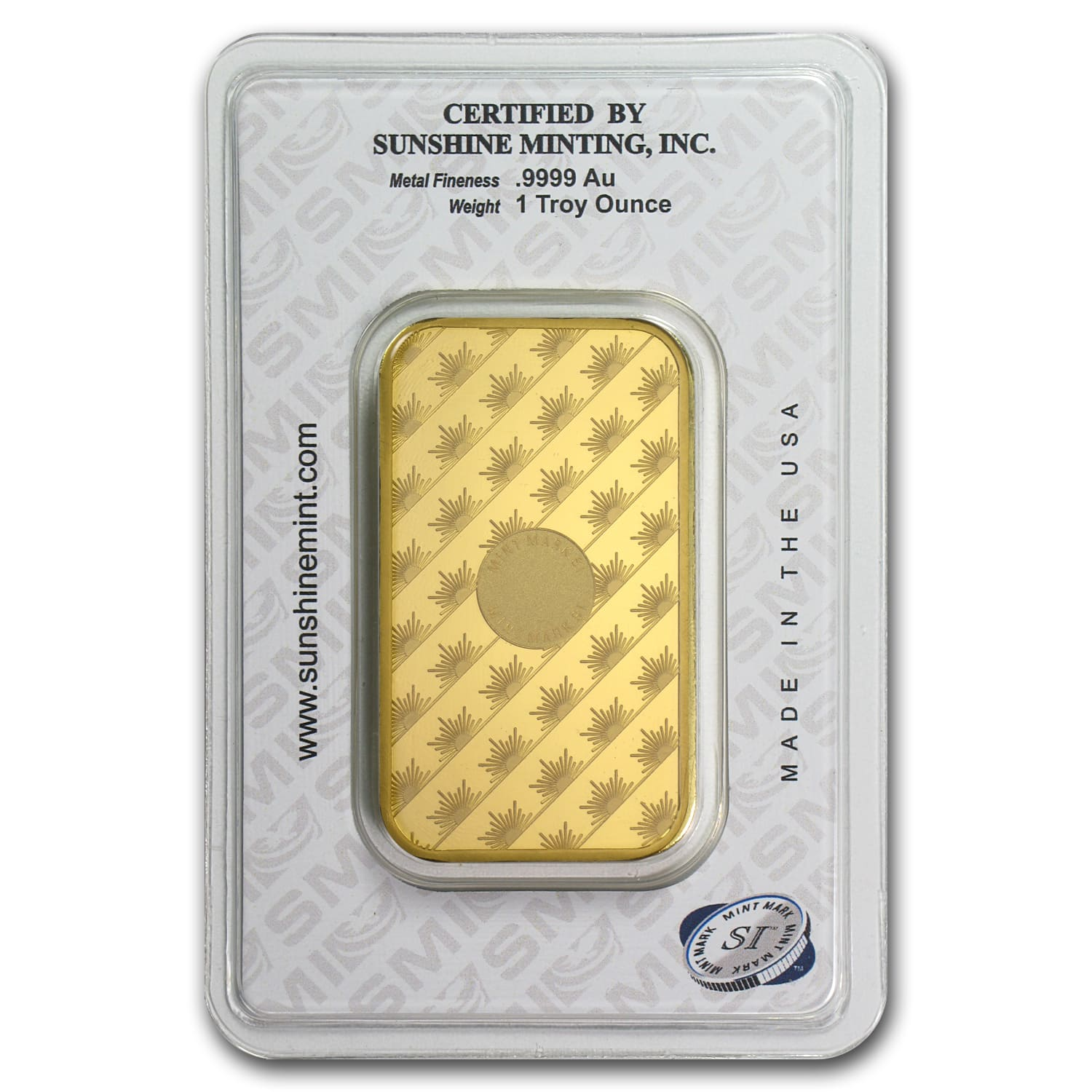 1 oz Gold Bars - Sunshine Minting (New Design in TEP Packaging)