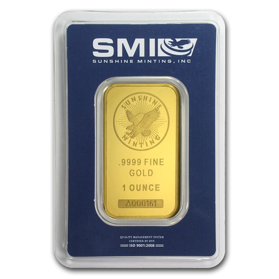 Sunshine Minting 1 Oz Gold Bar For Sale Smi One Ounce