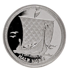 1/2 oz Isle of Man Platinum Noble (Abrasions)