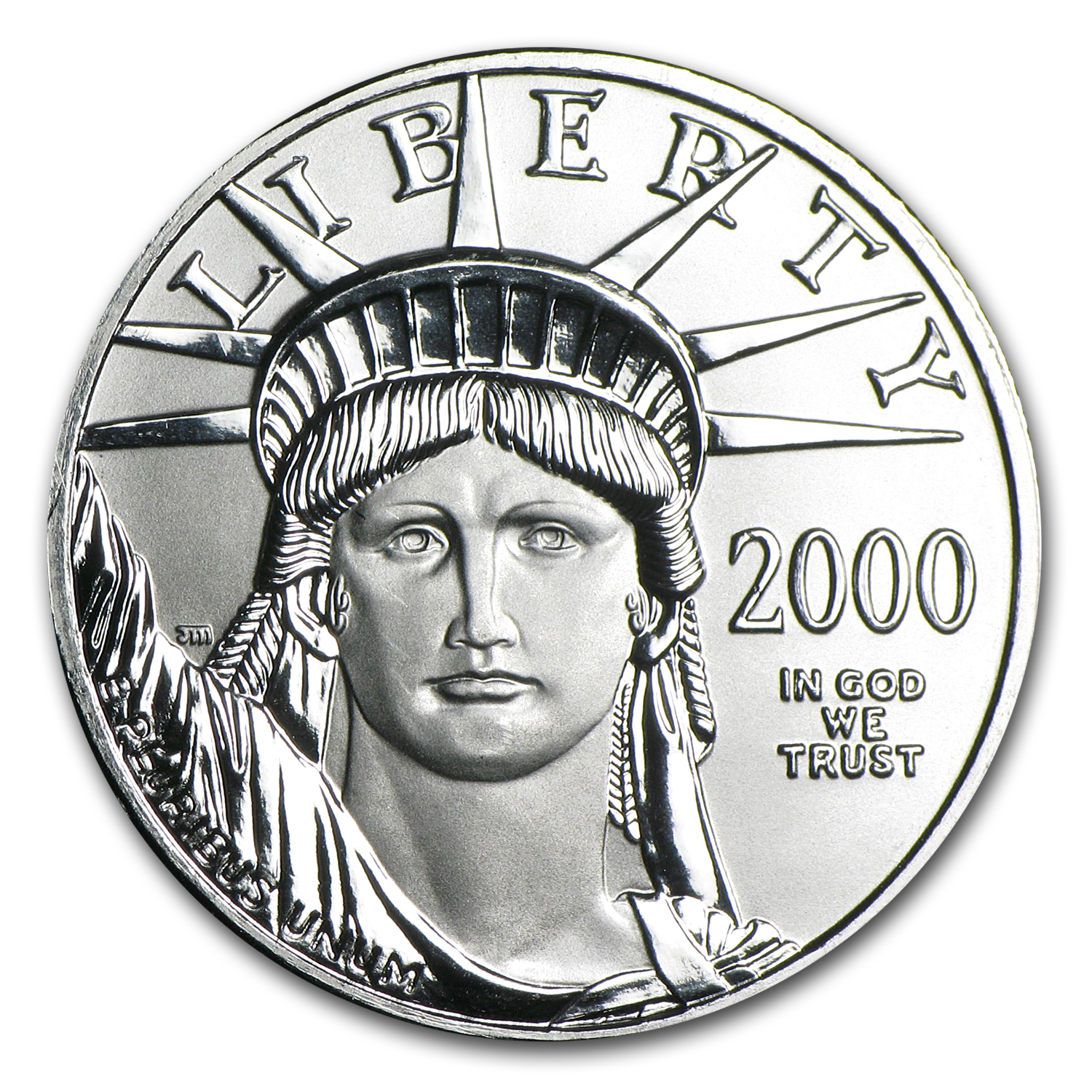2000 1/2 oz Platinum American Eagle BU
