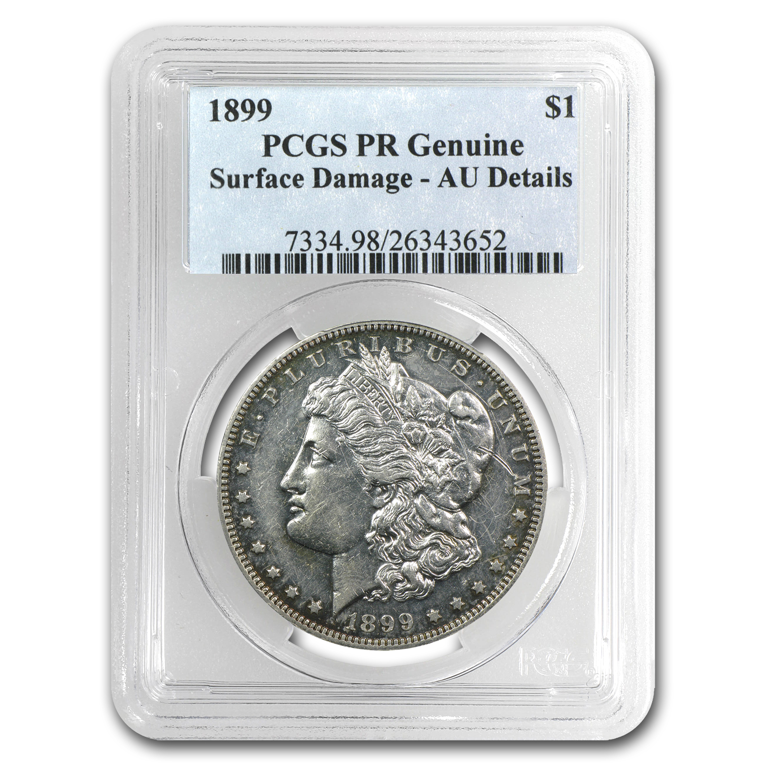 1899 Morgan Dollar Proof-55 Details PCGS (Surface Damage)