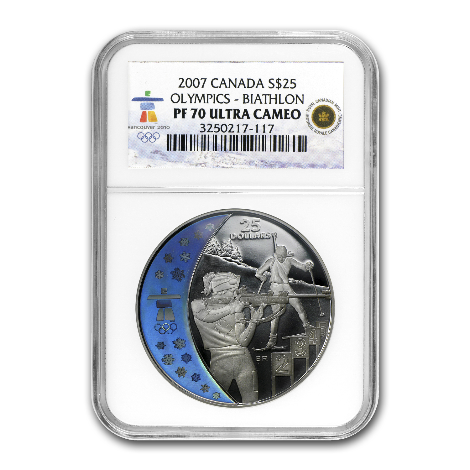 2007 Canada 8-Coin Gold & Silver Olympic Set PF-70 NGC