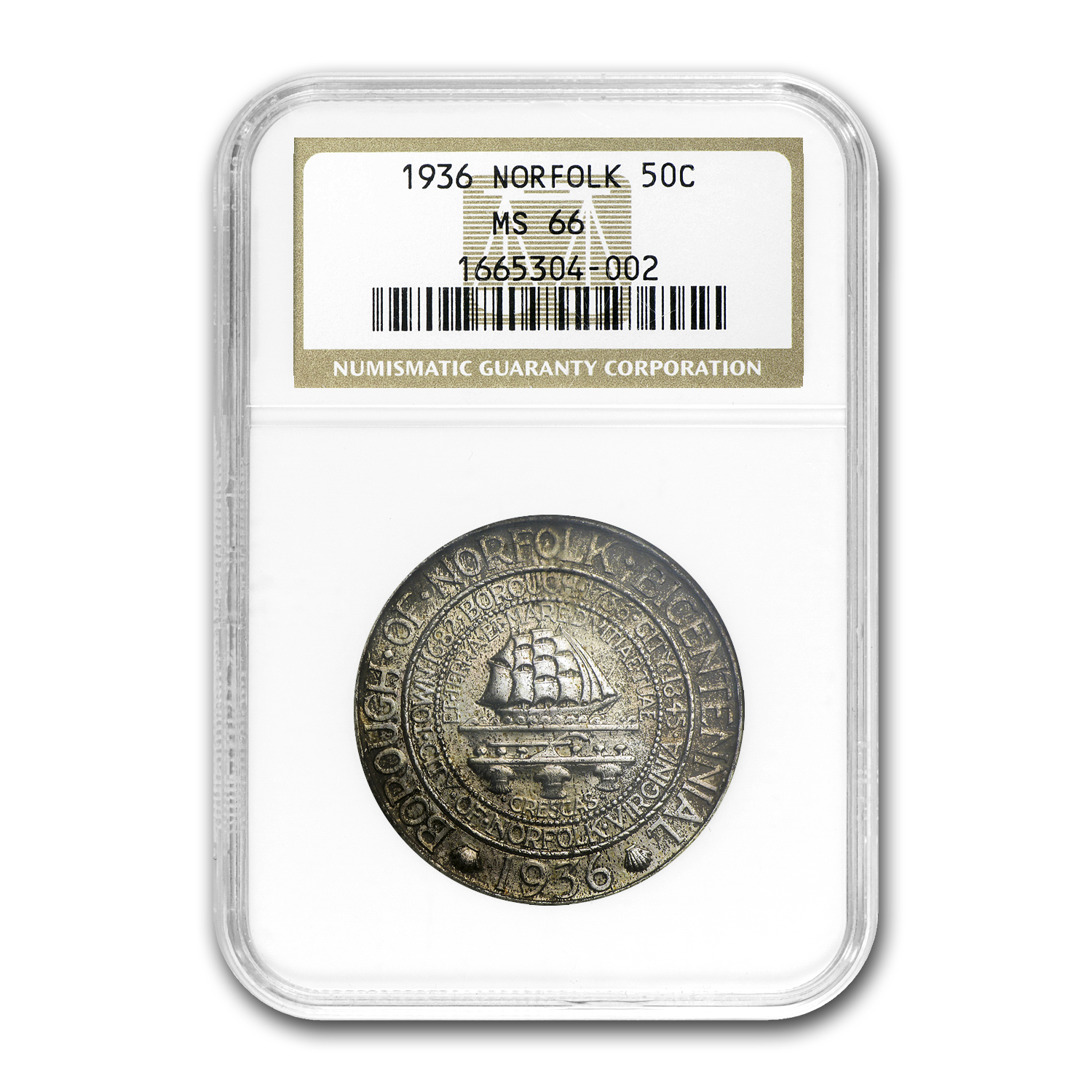 1936 Norfolk Half Dollar MS-66 NGC