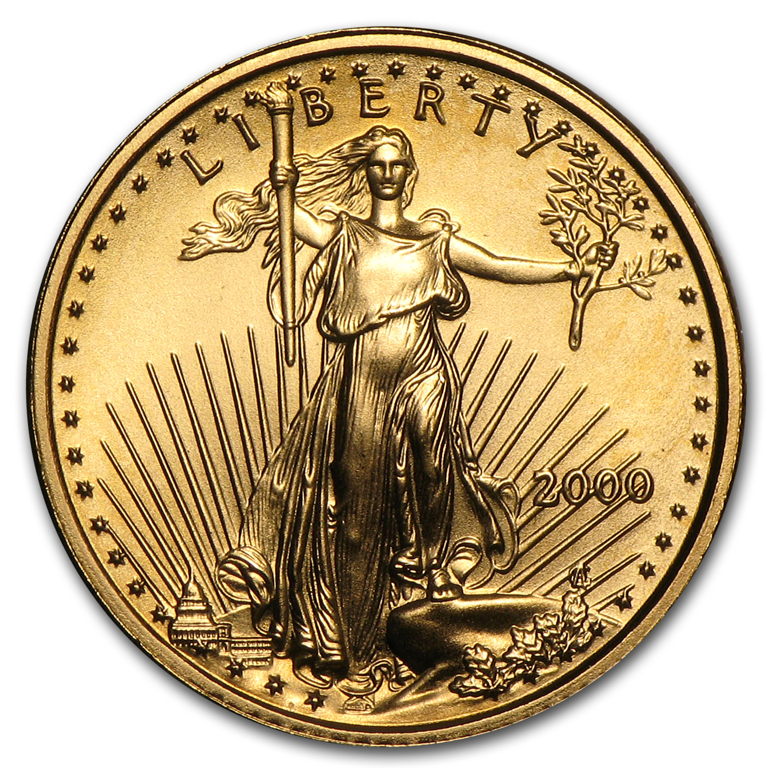 2000 1/10 oz Gold American Eagle (BU)