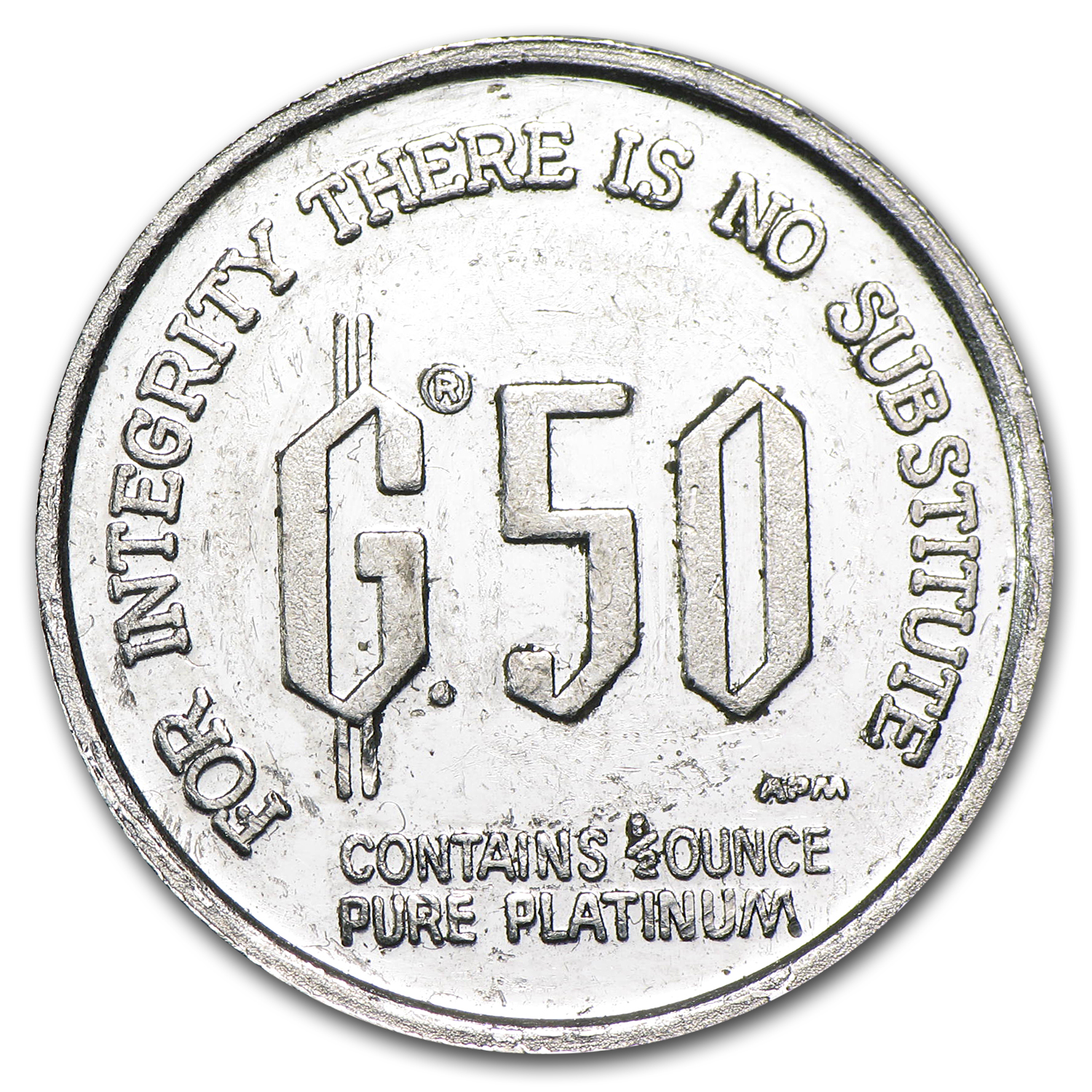 1/2 oz Platinum Freidrich Hayek Denationalization of Money