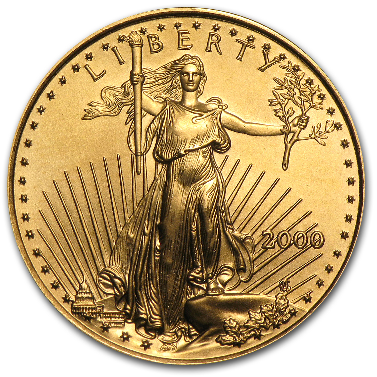 2000 1/4 oz Gold American Eagle (BU)