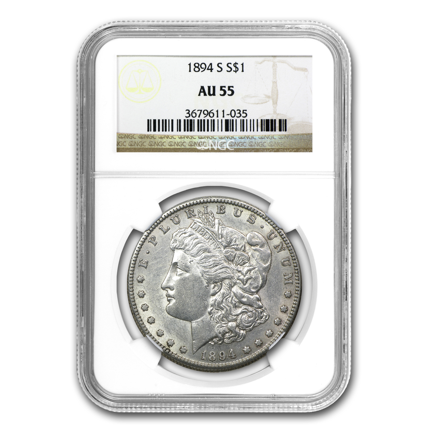 1894-S Morgan Dollar Almost Uncirculated-55 NGC